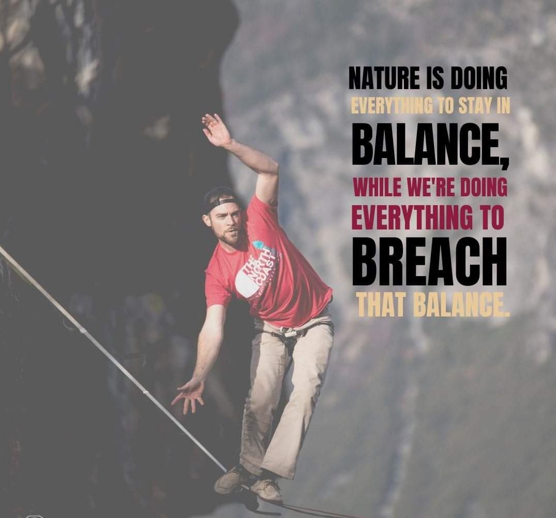 שינוי היחס לסביבה מסייעת לשמור על איזון